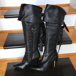 Via Spiga Boot Heels - Leather